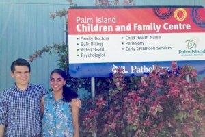 second-year medicine students Blake Jones and Shruti Yardi
