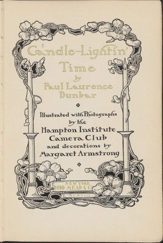 Title page of Candle-lightin' Time