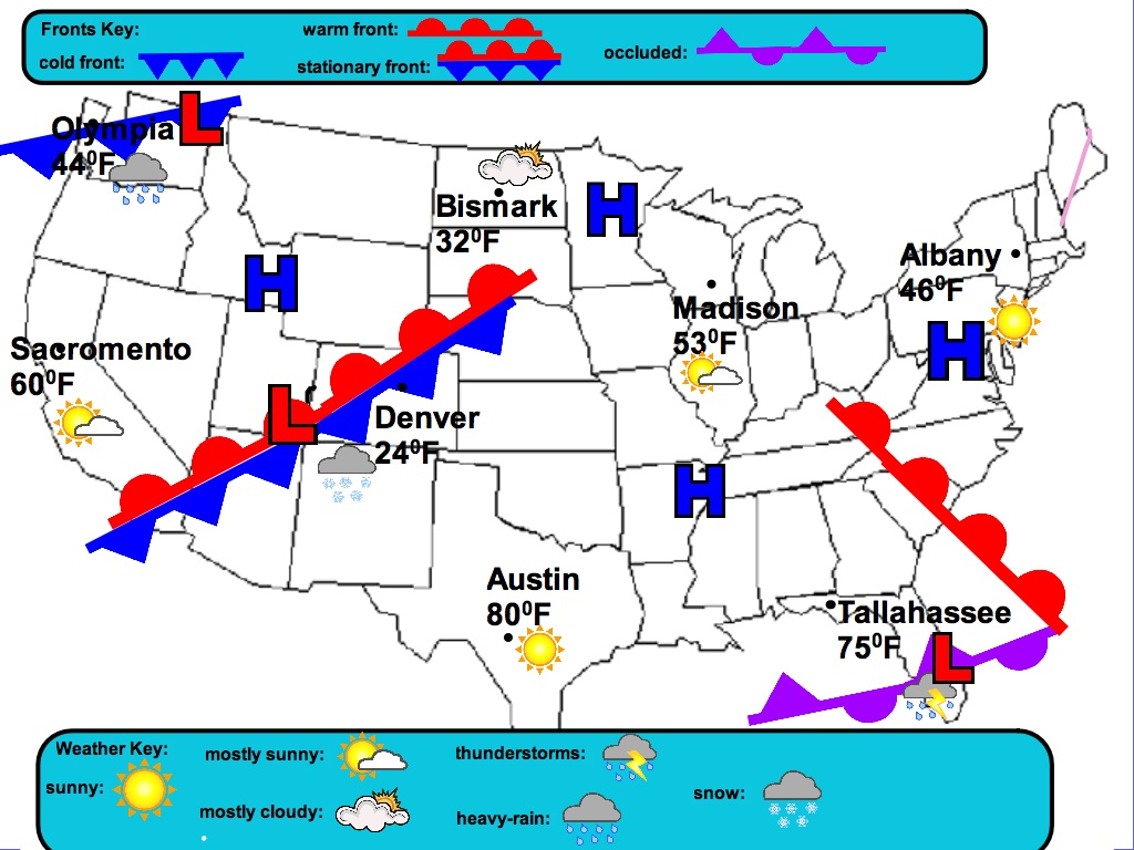 Weather Worksheet New 657 Forecasting Weather Map