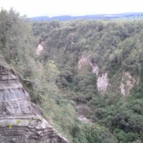 The view of the terrain close to our camping site