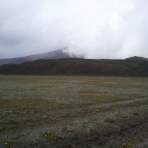 The cloudy day ruined our view of Cotopaxi