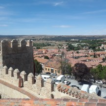 A view of Avila from the heights of its wall.