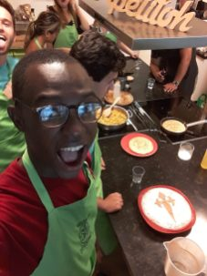 I took a cooking class where I learned to make paella, gazpacho, and an almond dessert.