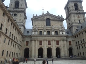 The beautiful facade of the monastery's basilica. Its outer appearance does not do justice to its marvelous interior.