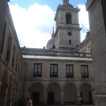 The facade of the cathedral of the Escorial.