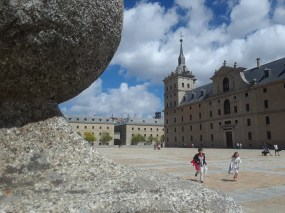 A side view of El Escorial monastery.