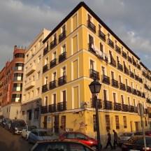 A beautiful street corner in Madrid.