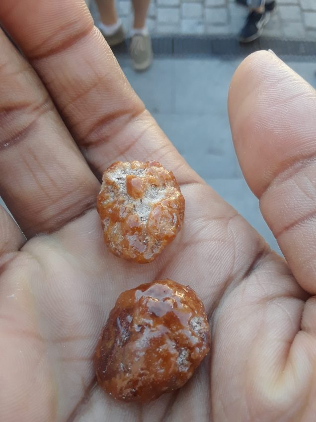 Glazed almonds made by residents in a convent in Alcala de Henares