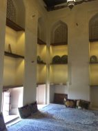 The Imam's courtroom. In the far right corner, a portion of the floor dips below and is just big enough to hold a solider in case defense is needed.