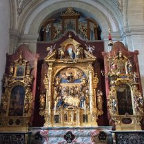 This side-altar in Lucerne shows the death of the Virgin Mary.