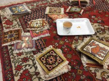 Little carpet coasters and more karak tea