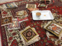 Little carpet coasters and more karak tea