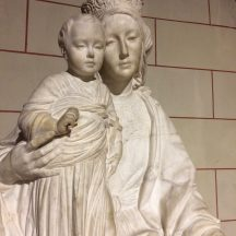 This life-size statue of the Madonna and Child sits in St. Martin's.