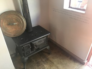 The small kitchen stove