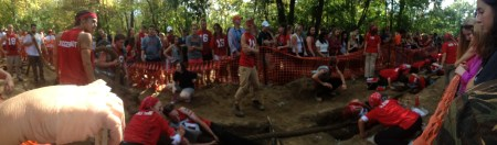 A panoramic of a section of the pull!