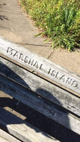 A bench on Marshall Island