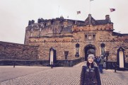 This is me in front of the crazy cool Edinburgh Castle - it was fantastic.