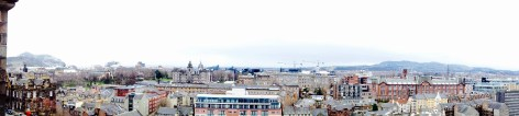 The view from the top of Scott's Monument!