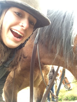 This was my horse Sheebla. As you can tell, she was unsure of me from the beginning.