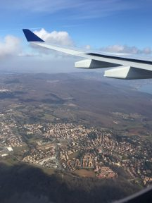 View of Italian town from an airplane