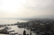 View of Zurich from a church tower