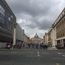 View of road leading to the Vatican City