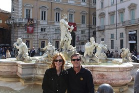 Mom and Dad in Piazza Navona