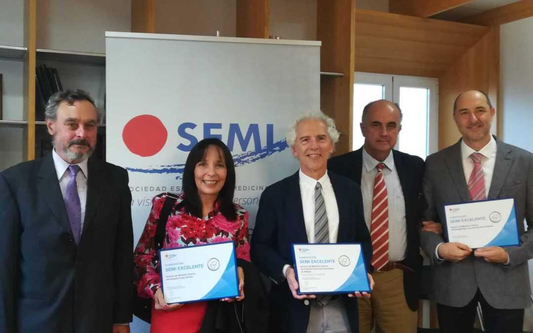 Nuestra Unidad de Medicina Interna obtiene el sello de Excelencia de la Sociedad Española de Medicina Interna