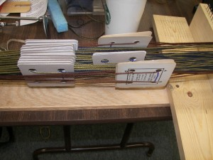 cards in a card loom