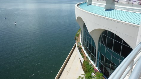 Lakeside, Monona Terrace: bike path on lower level