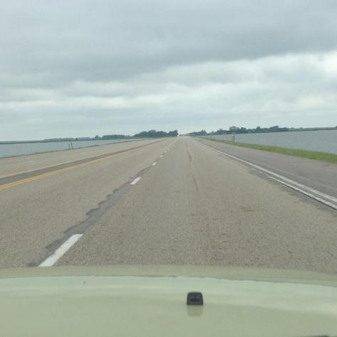 US12, crossing Rush Lake in eastern South Dakota.