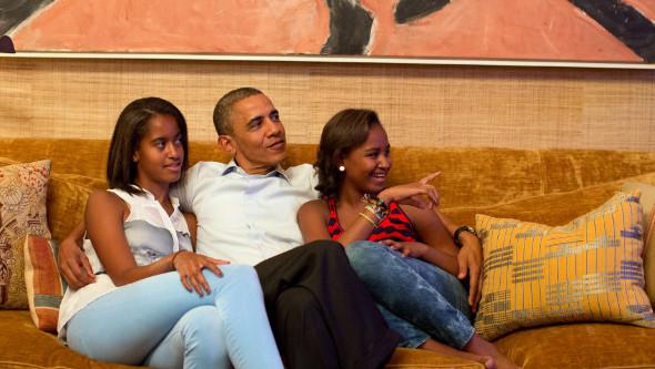 El presidente Obama y sus hijas fanáticos de la series
