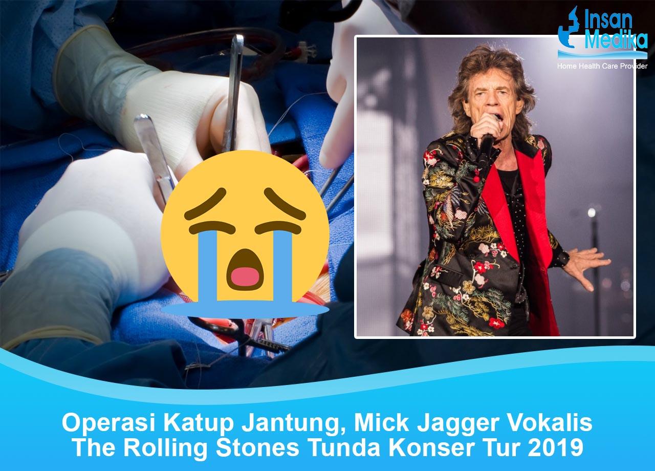 Mick Jagger The Rolling Stones Operasi Katup Jantung