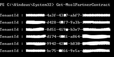 Get-MsolPartnerContract
