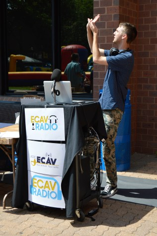 ECAV DJ Jonah Snider busting out some moves. Photo by E.J. Wood