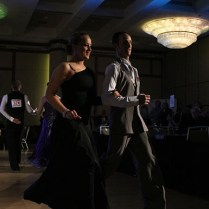 Micheals and Fracoviglia exit the dancefloor still expressing the excitement from their performance.