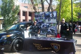 Lenexa police at Criminal Justice Day
