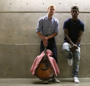 JCCC Students Michael Wilkerson and Broderick Jones use their music to start a charity. Any proceeds from their music purchased on itunes from October 1 to November 26, 2015 will go towards coats for kids in need.