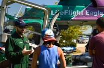 Flight paramedic of LifeFlight speaks with students regarding the difficulty of the job, yet how rewarding the position can be. Photo by E.J. Wood