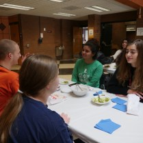 """Students had the opportunity to make friends and exchange stories. """"I learned that someone electrocuted themselves when they were eleven,Jackelyn Cruz, student, said. Photo by Kaytlin Hill, The Campus Ledger."""