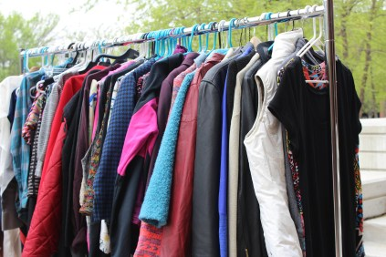 For Earth Day there are multiple events that are on campus this week. Today there was a Clothing Swap. Where clothes were being sold for a $1.00 and all the money goes to the Student Environmental Alliance. Photo by: Jennifer Tharp, The Campus Ledger.