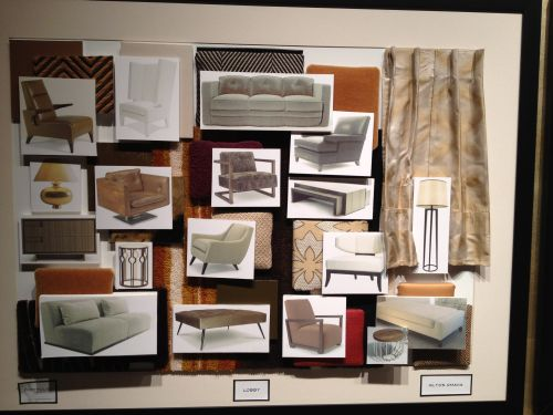 Interior Design Color Boards Commercial Hospitality