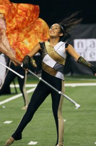 Mandarins performs Friday, August 8, at the 2014 DCI World Championship Semifinals at Lucas Oil Stadium in Indianapolis, IN. The corps finished in 21st place with a score of 78.150.