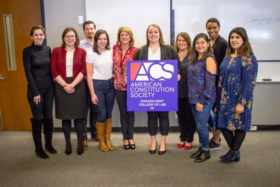 Texas State Senator Wendy Davis with ACS Chicago-Kent Leadership