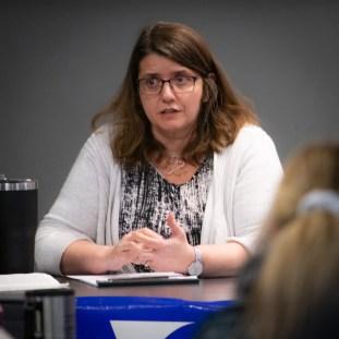 Professor Carolyn Shapiro speaking at Impeachment 101 Panel