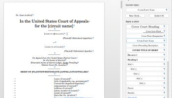 1Ls: Appellate Brief Help for Word's Table of Authorities - IIT