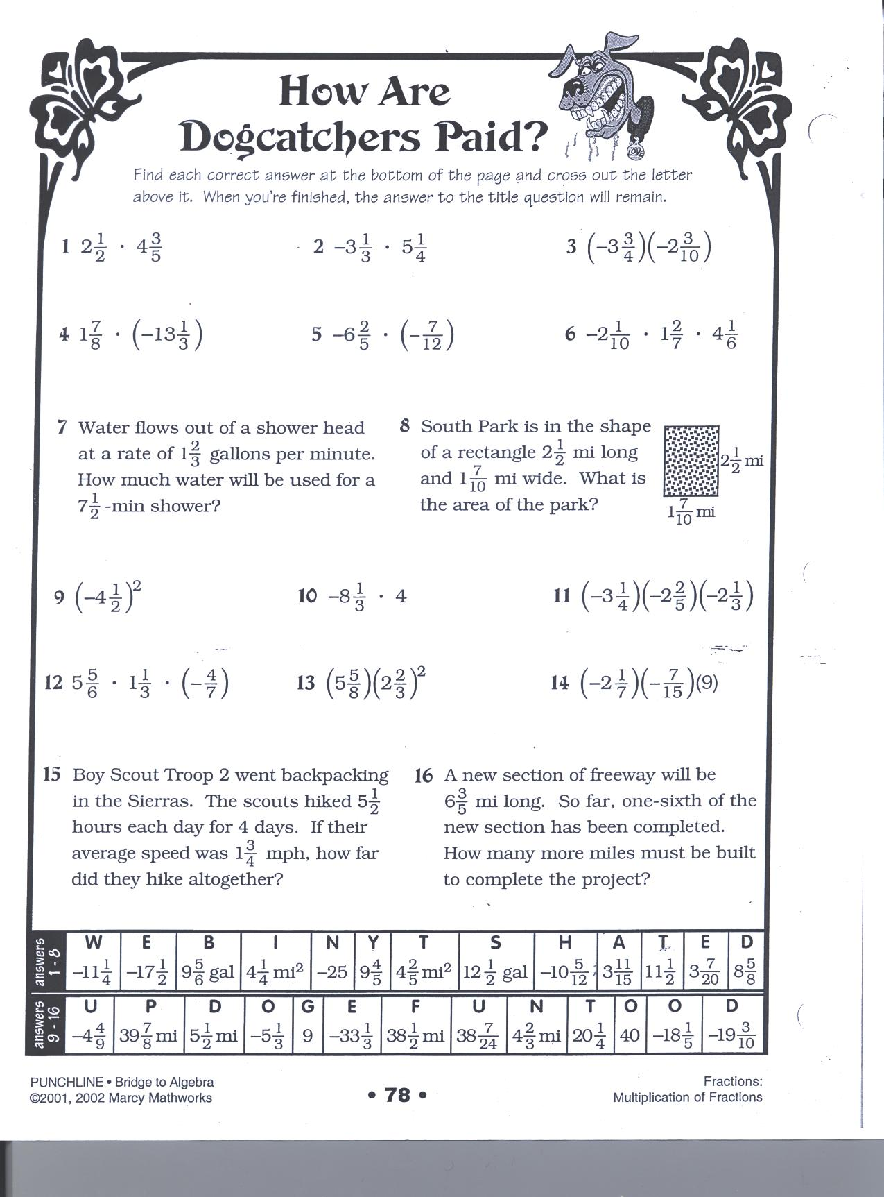 Pizzazz Math Worksheet Number Line