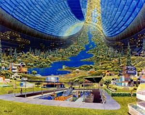 Imagen del Toro de Stanford basado en la propuesta del físico Gerard O´Neill en crear una nave espacial con hábitat para los astronautas.