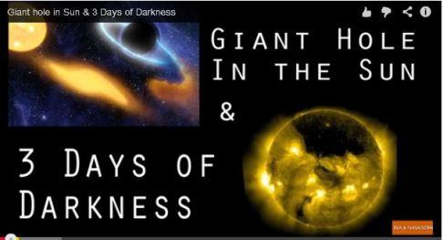 Otra mentira es que un agujero negro se pondrá frente al Sol y nos apagará su luz por tres días, falso, el agujero negro más cercano se encuentra a 25,000 años luz, en centro de nuestra galaxia.