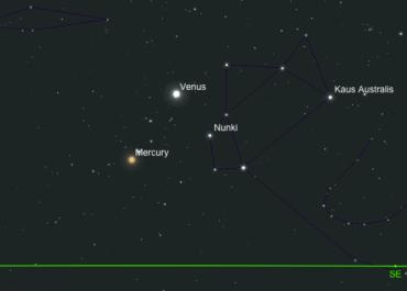 En el amanecer del 1 de febrero Mercurio y Venus se observarán muy bajos en el horizonte, debe de buscar un sitio que permita la visión hacia el horizonte este (oriente).